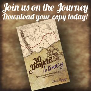 30 Days to Intimacy; sharipopejoy.com